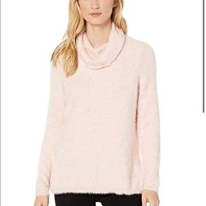Tribal Pink Long Sleeve Cowl Neck Sweater NWT
